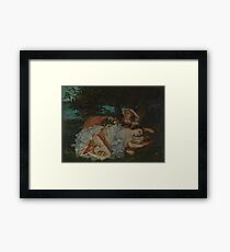 Gustave Courbet - Young Ladies On The Bank Of The Seine Framed Print