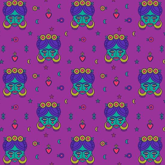 Frida Pattern by musingtree
