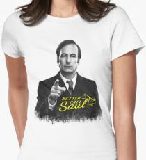 Better Call Saul B&W Womens Fitted T-Shirt