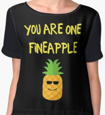 You Are One Fineapple Chiffon Top