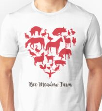We Love Animals at Bee Meadow Farm Unisex T-Shirt
