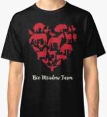 We Love Animals at Bee Meadow Farm DARK SHIRTS Classic T-Shirt