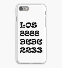 Números iPhone Case/Skin