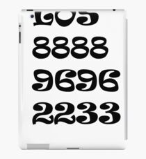 Números iPad Case/Skin