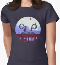 Nier Automata 2B and 9S Emil Face Womens Fitted T-Shirt