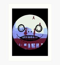 Nier Automata 2B and 9S Emil Face Art Print