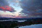 """Sunset over Newfound Lake by Christine """"Xine"""" Segalas"""