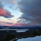 "Sunset over Newfound Lake by Christine ""Xine"" Segalas"