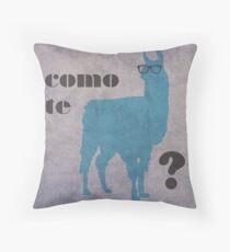 Como Te Llamas Humor Wortspiel Poster Kunst Dekokissen