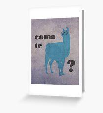 Como Te Llamas Humor Pun Poster Art Greeting Card
