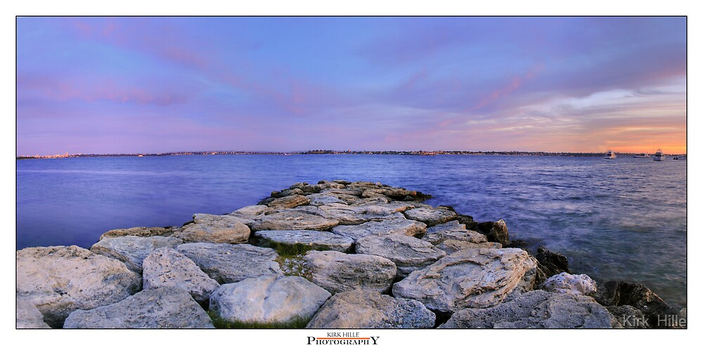 Rocky Sunset by Kirk  Hille