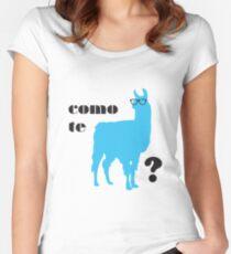 Como Te Llamas Humor Wortspiel Poster Kunst Tailliertes Rundhals-Shirt