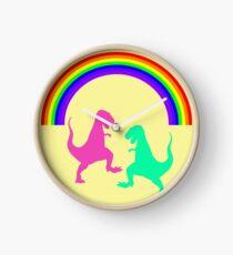 dinosaurs and rainbow Clock