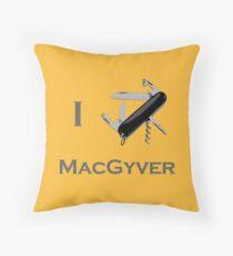 Macgyver 2 Throw Pillow