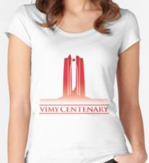 Vimy Centenary Flag Transition Women's Fitted Scoop T-Shirt