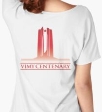 Vimy Centenary Flag Transition Women's Relaxed Fit T-Shirt