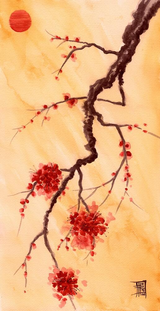 Red Sun and Plum Blossoms by John Houle