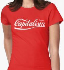 Enjoy Capitalism Women's Fitted T-Shirt