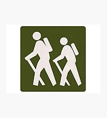 Outdoor Recreational Backbacking Road Sign Photographic Print