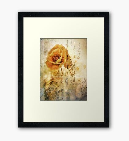 Memories and time Framed Print