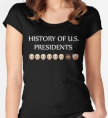 History of U.S. presidents shirt Women's Fitted Scoop T-Shirt
