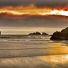 Bandon Beach at Sunset (8965) by Barry L White