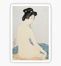 Hashiguchi Goyo - Woman After The Bath Sticker