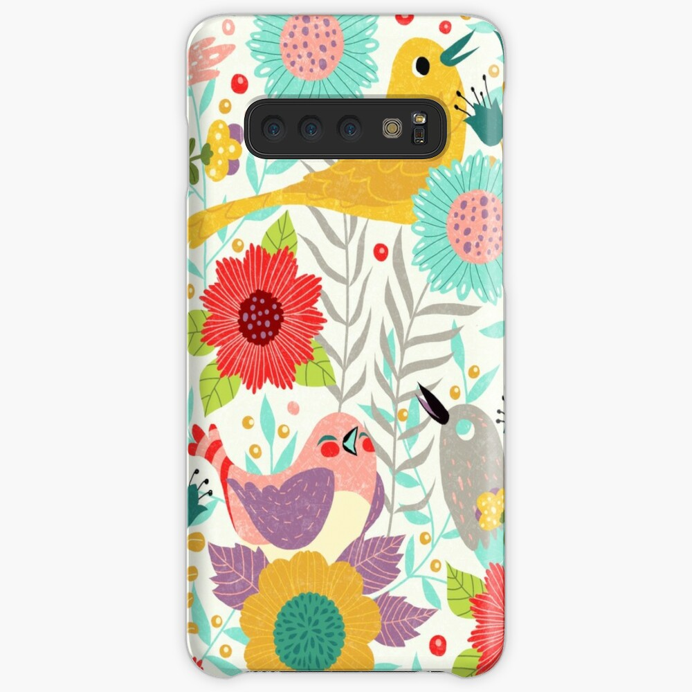 Birds and Flowers Samsung Galaxy Snap Case