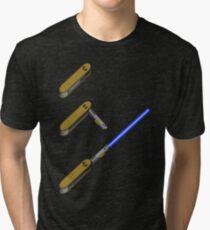 light-swiss-knife-blue-3 Tri-blend T-Shirt