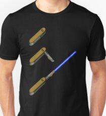 light-swiss-knife-blue-3 T-Shirt
