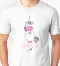 Unicorn - namaste y'all yoga Unisex T-Shirt