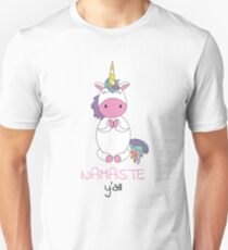 Unicorn - namaste y'all yoga T-Shirt