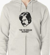 Toast of London 'Fire the Nuclear Weapons' Zipped Hoodie