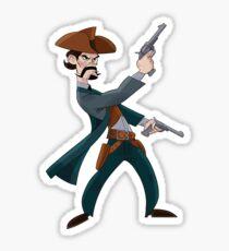 Cartoon Cowboy Sticker