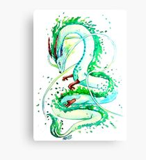 Haku Dragon - Spirit of the River  Canvas Print