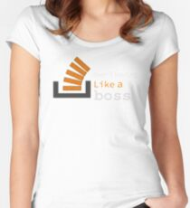 Overflowing like a boss Women's Fitted Scoop T-Shirt