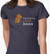 Overflowing like a boss Womens Fitted T-Shirt