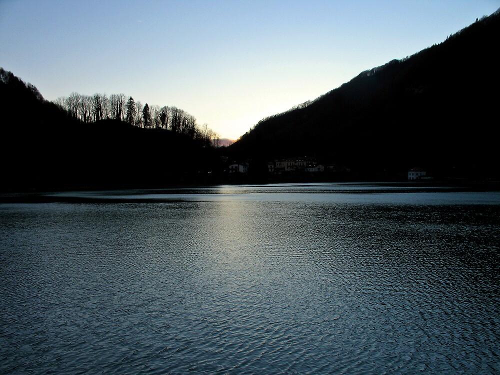Sunset Over Most Na Soči by Rok Cuder