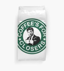 Coffee's for Closers Parody Duvet Cover