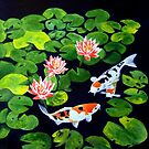 Lotus Blossoms by John Houle