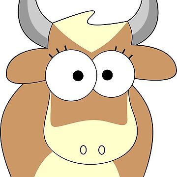 Comic Cow Character. by Claudiocmb