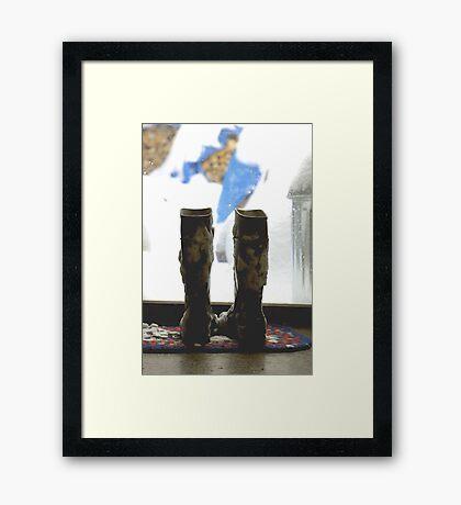 boots Framed Print