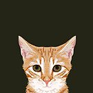 Chase - Cute Orange Tabby cat gifts for cat lady cat lovers pet owner gifts cell phone with cute cat by PetFriendly