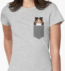 Jordan - Shetland Sheep Dog gifts for sheltie owners and dog people gift ideas perfect dog gifts Women's Fitted T-Shirt