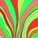 Wavy Pattern Red + Green by CarolineLembke