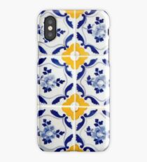 Portuguese Blue and yellows tiles  iPhone Case/Skin