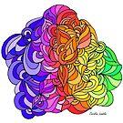 Floral Rainbow Pattern on White Blackground by CarolineLembke