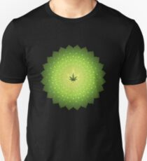 Shining mandala / Cannabis leaf Unisex T-Shirt