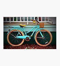 Beach Cruiser Bike Photographic Print