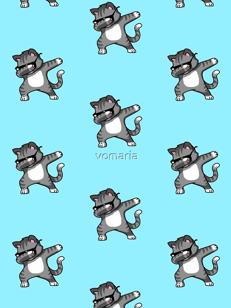 Dabbing Cat Funny Hip Hop T-shirt by vomaria